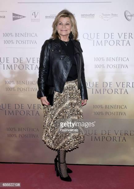 Cari Lapique attends the 'Lo Que De Verdad Importa' premiere at the Hotel Vincci Capitol on February 15 2017 in Madrid Spain