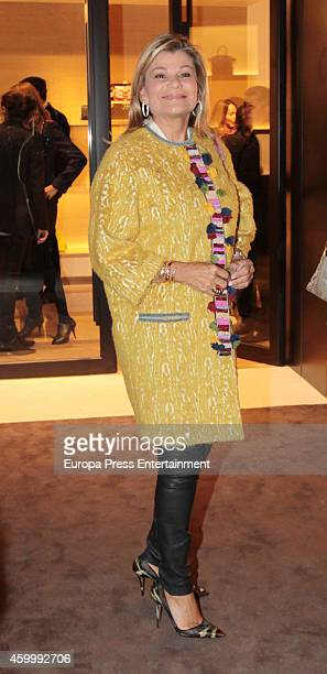 Cari Lapique attends the opening of Louis Vuitton store on December 1 2014 in Madrid Spain
