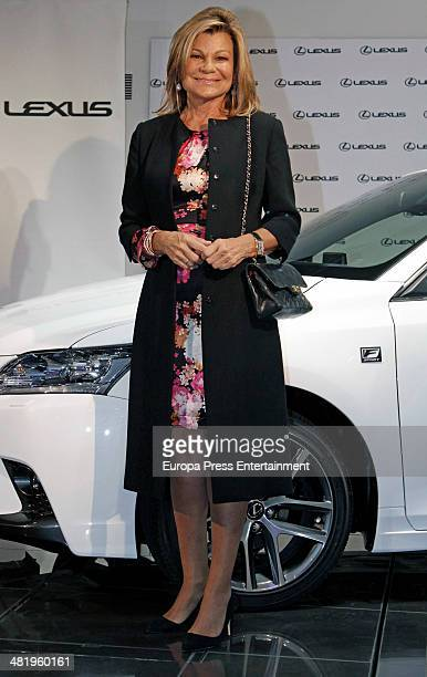 Cari Lapique attends the presentation of Lexus CT 200h Hibrid on April 1 2014 in Madrid Spain