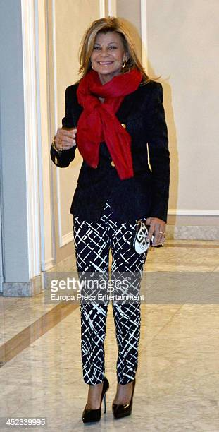 Cari Lapique attends the presentation of the style book '100% Naty' at Villamagna Hotel on November 26 2013 in Madrid Spain