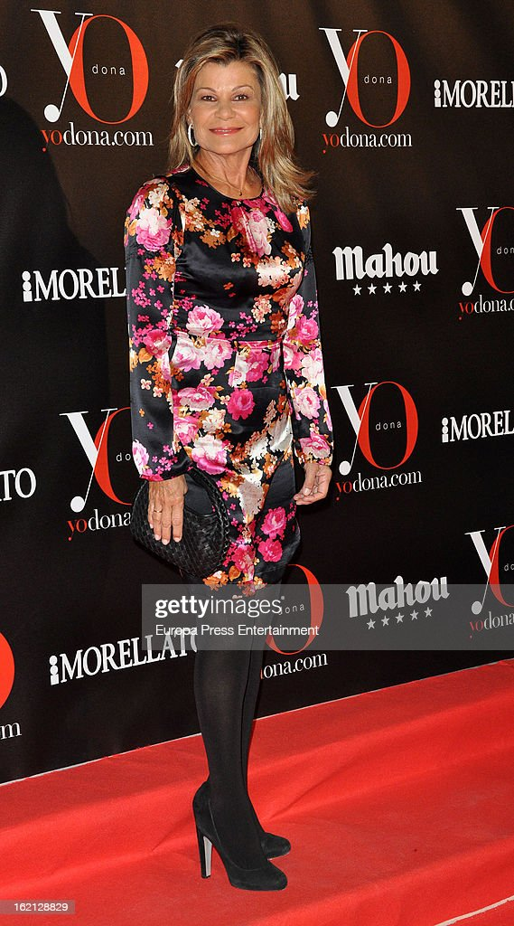 Cari Lapique attends 'Yo Dona' magazine mask party on February 18, 2013 in Madrid, Spain.