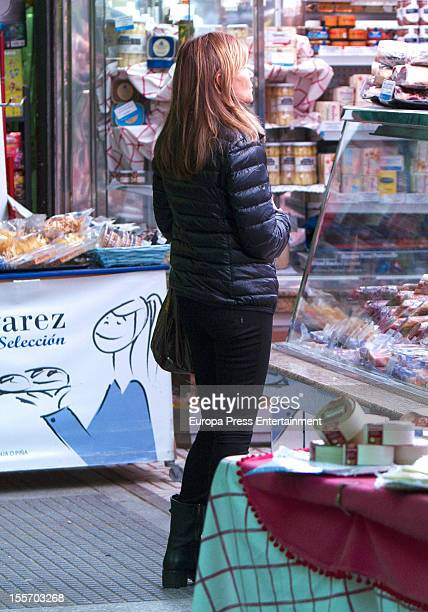 Cari Lapique is seen on November 6 2012 in Madrid Spain