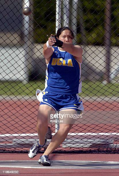 Cari Soong of UCLA won the women's hammer at 2031 in the USCUCLA track and field dual meet at Drake Stadium on Friday April 30 2004