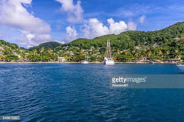 Caribbean, Antilles, Lesser Antilles, Grenadines, Bequia, View to beach