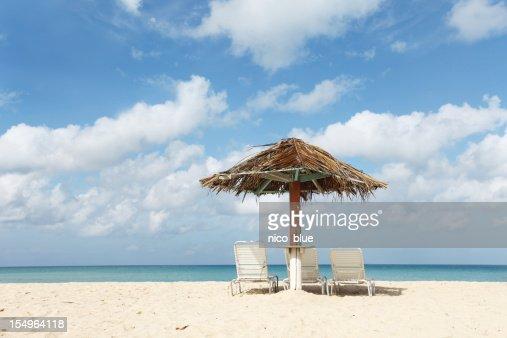 カリブ海のビーチフロントのハーモニー