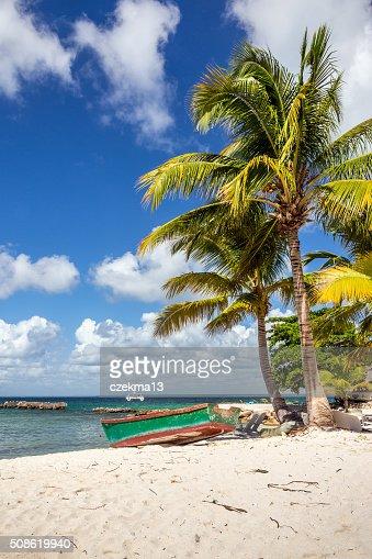 Caribbean beach in Dominican Republic : Stock Photo