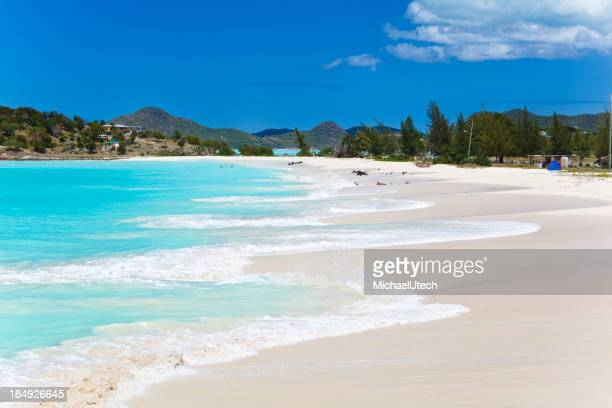 Caribbean Beach With Blue Sky