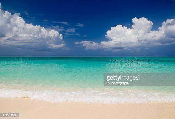Caribbean golden sand beach