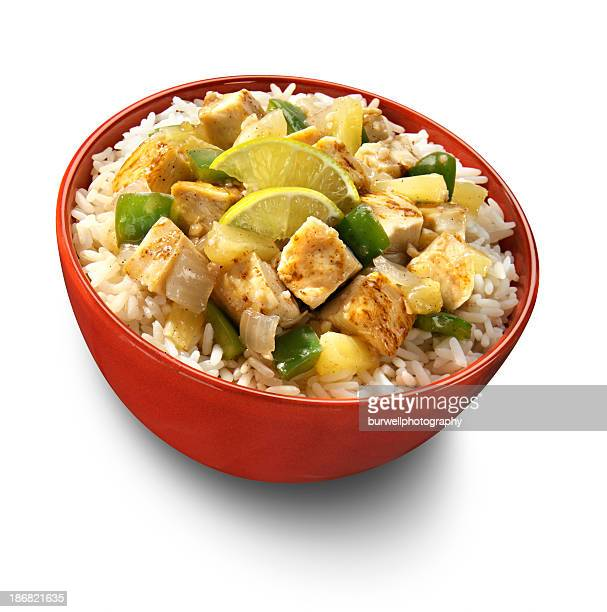 Caribbean Grilled Chicken and Rice Bowl