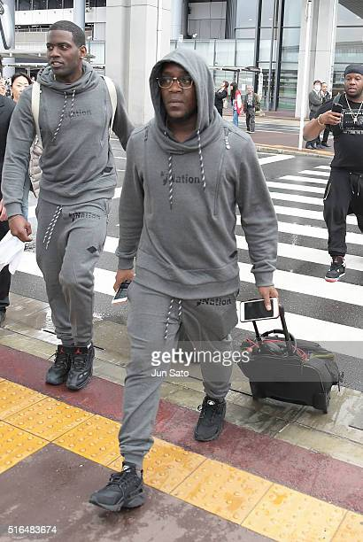 Caribbean hiphop superstar/musician Iyaz is seen upon arrival at Narita International Airport on March 19 2016 in Narita Japan