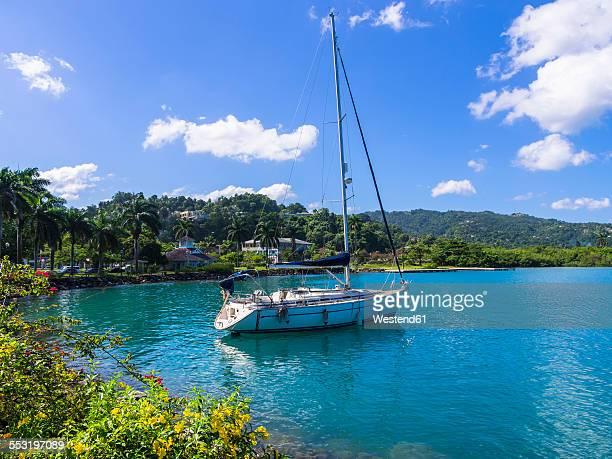 Caribbean, Jamaica, Port Antonio, sailing ship