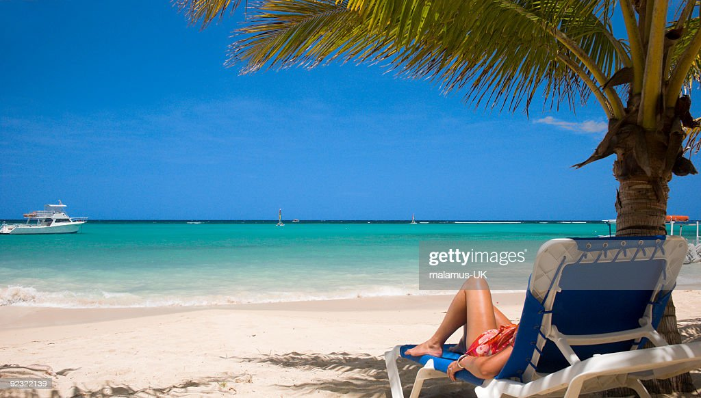 Caribbean Relaxation: Caribbean Relaxing Stock Photo