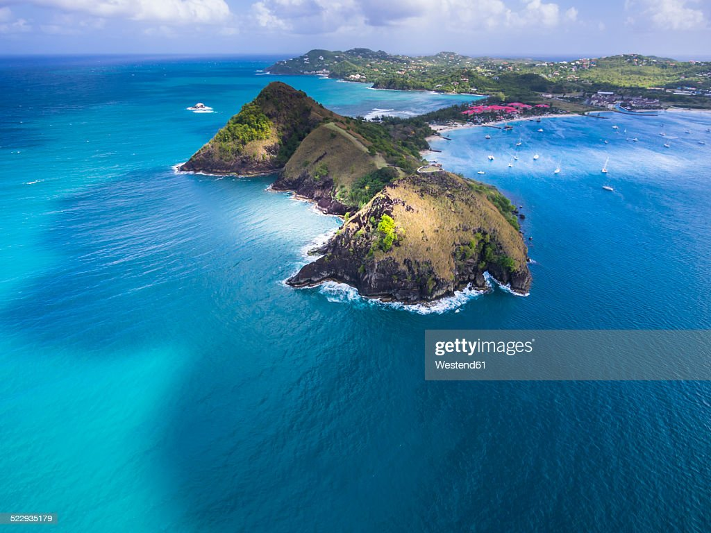 Caribbean, St. Lucia, Cap Estate, Pigeon Island National Park and Fort Rodney