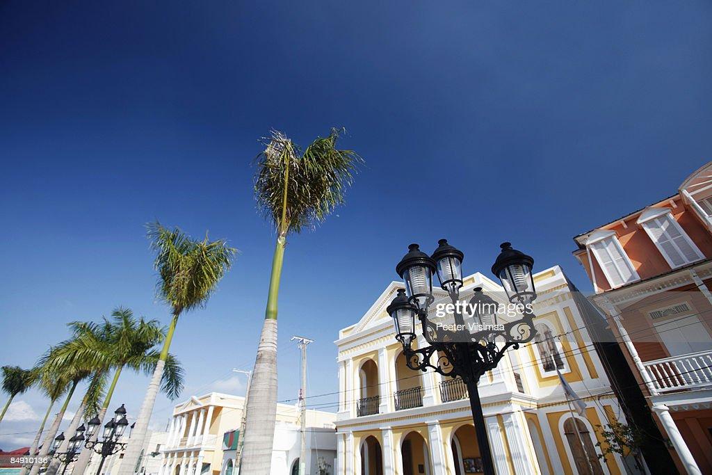 caribbean town. : Stock Photo