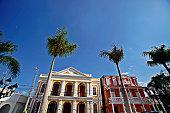Caribbean town. Puerto Plata, Dominican Republic.