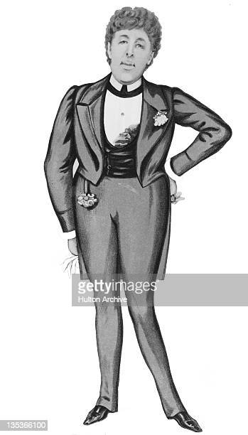 A caricature of Irish playwright and poet Oscar Wilde by 'Ape' in Vanity Fair 1884