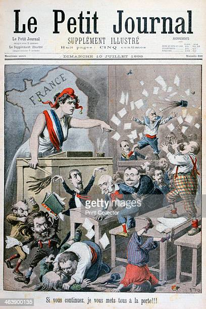 Caricature of the Chamber of Deputies Paris 1898 An illustration from Le Petit Journal 10th July 1898