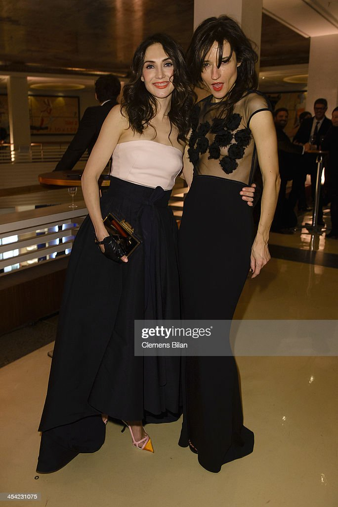 Carice van Houten (L) and Angela Gregovic pose at the aftershow party of the European Film Awards 2013 on December 7, 2013 in Berlin, Germany.