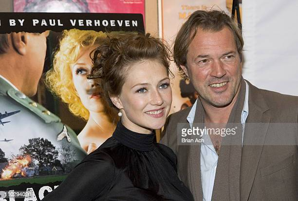 Carice van Houten and Sebastian Koch during An Evening with Paul Verhoeven Celebrating His New Film 'Black Book' at Walter Reade Theater Lincoln...