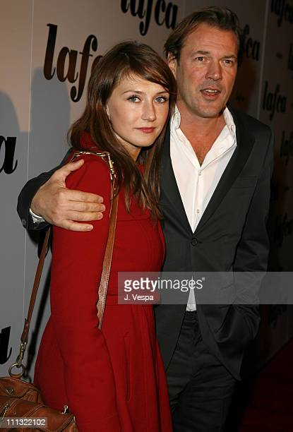 Carice van Houten and Sebastian Koch during The 32nd Annual Los Angeles Film Critics Association Awards Red Carpet in Century City California United...
