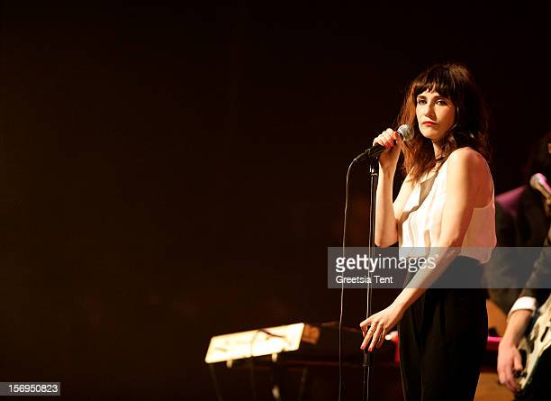 Carice van Houten performs supporting Rufus Wainwright at the Heineken Music Hall on November 25 2012 in Amsterdam Netherlands