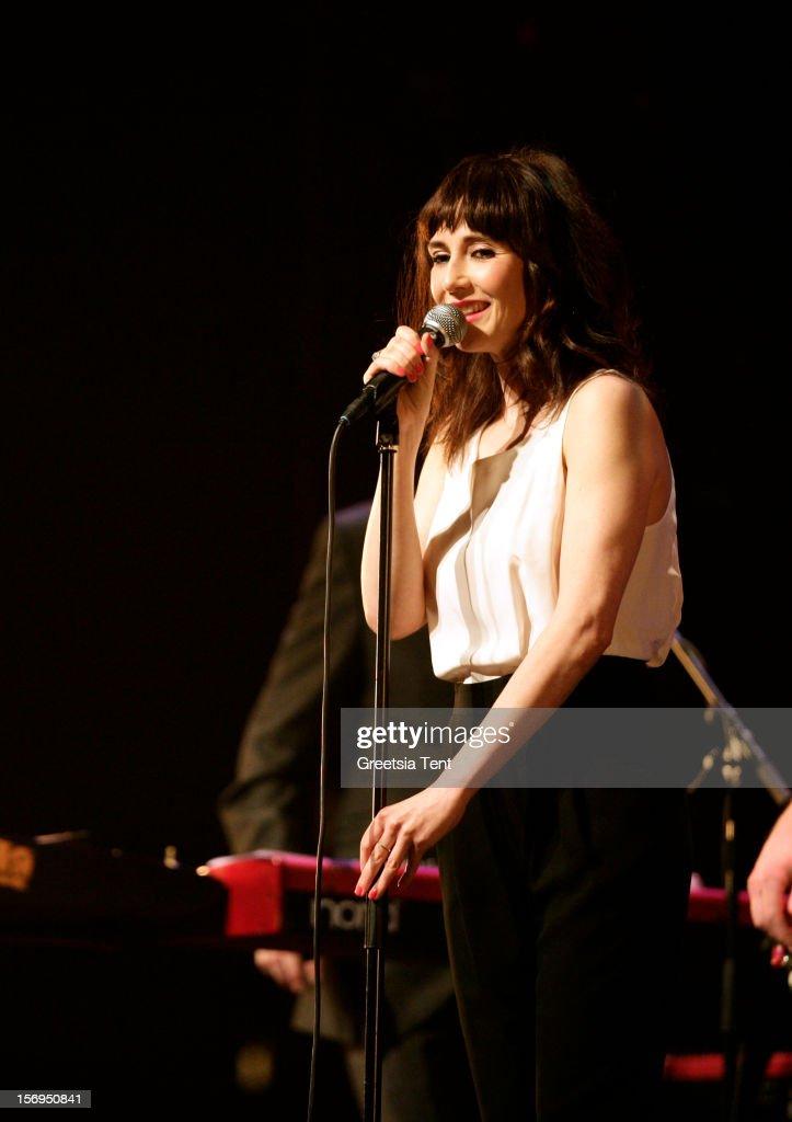 Carice van Houten performs supporting Rufus Wainwright at the Heineken Music Hall on November 25, 2012 in Amsterdam, Netherlands.