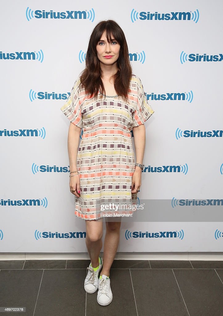Carice Van Houten visits at SiriusXM Studios on April 14, 2015 in New York City.