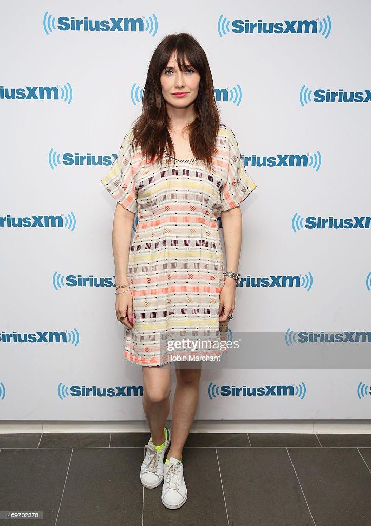 Carice Van Houten visits at SiriusXM Studios on April 14, 2015 in New York City.