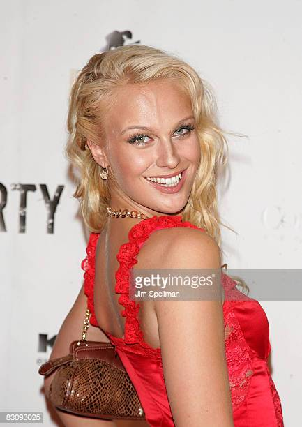 CariDee English from Americas Next Top Model attends the Fashion Rocks PreParty at Mansion on September 4 2008 in New York City