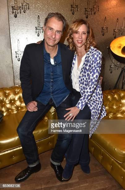 Carin C Tietze and Florian Richter during the NdF after work press cocktail at Parkcafe on March 15 2017 in Munich Germany