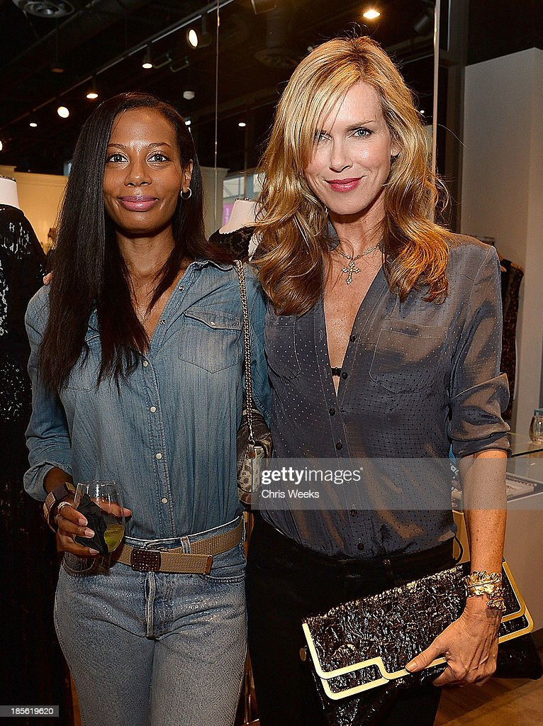 Carin von Berg and author Kathy Freston attend the Scoop NYC event at Scoop NYC on October 22, 2013 in Beverly Hills, California.
