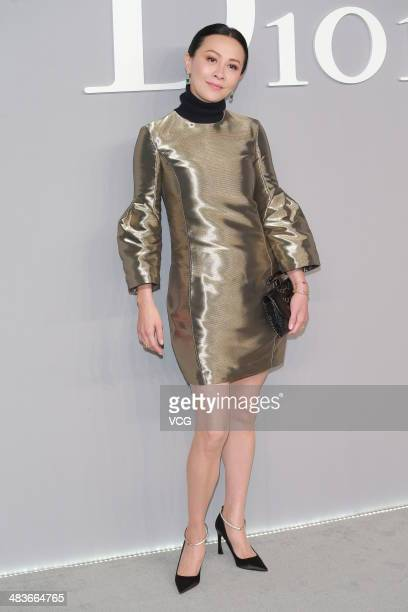 Carina Lau attends Dior Haute Couture press conference on April 9 2014 in Hong Kong China
