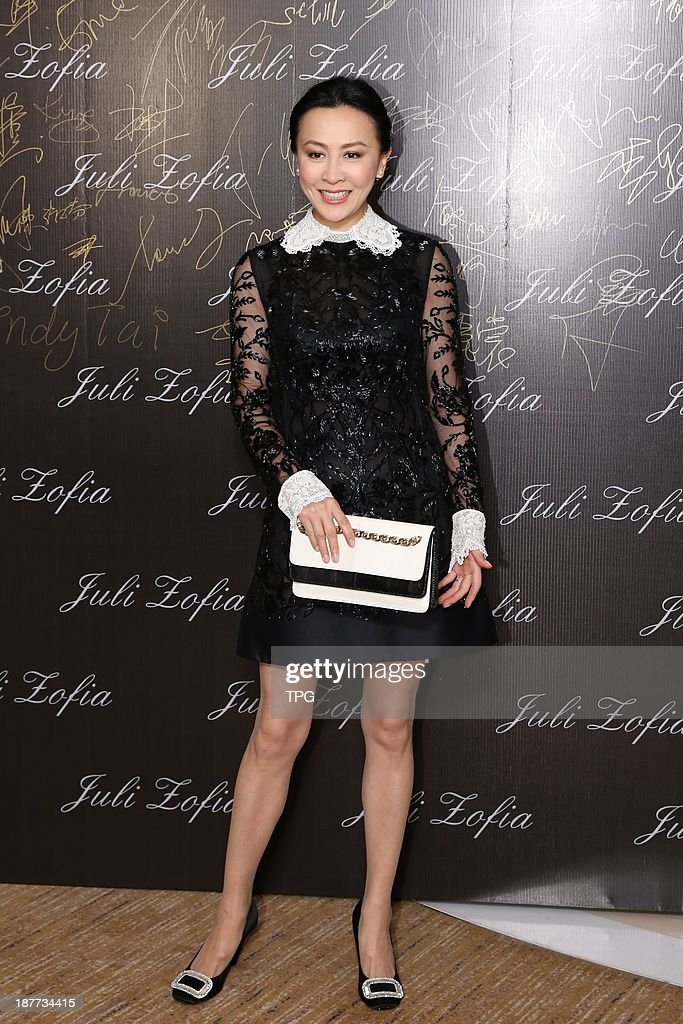 Carina Lau attends opening ceremony of JULI ZOFIA on Monday November 11,2013 in Hong Kong,China.