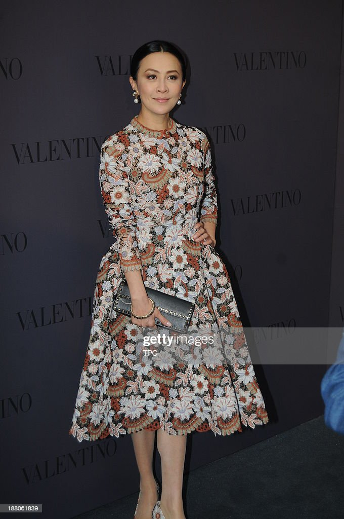 Carina Lau attends opening ceremony on Thursday November 14,2013 in Hong Kong,China.