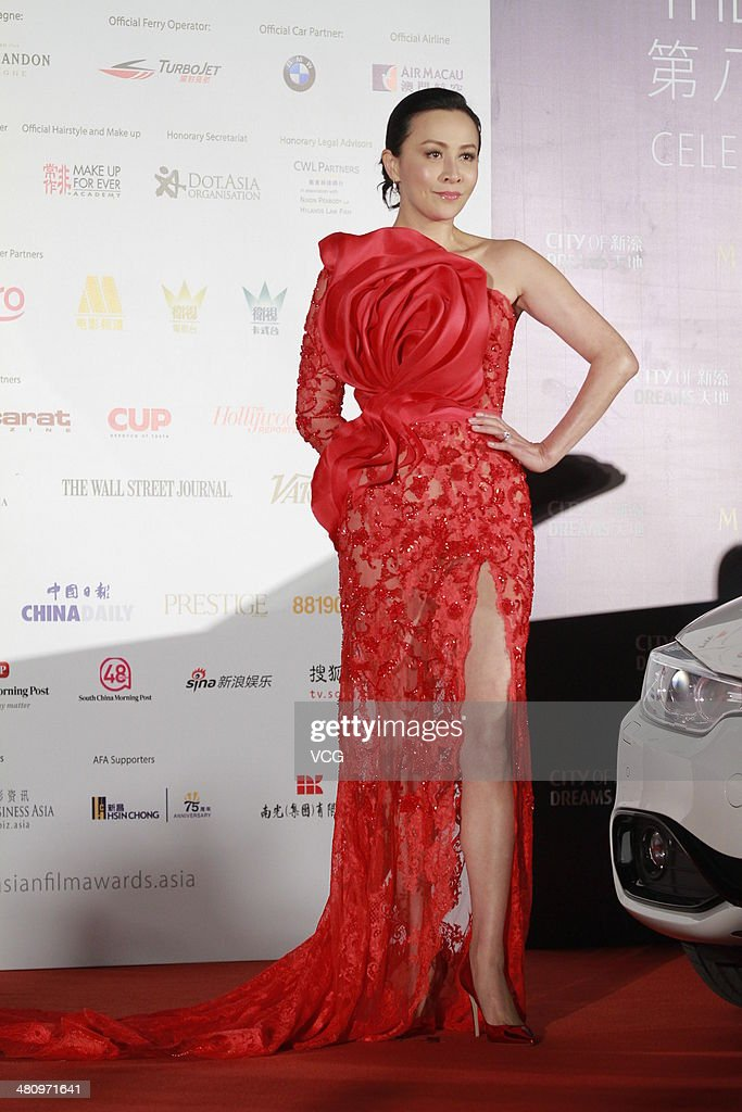 <a gi-track='captionPersonalityLinkClicked' href=/galleries/search?phrase=Carina+Lau&family=editorial&specificpeople=663580 ng-click='$event.stopPropagation()'>Carina Lau</a> attends red carpet of the The 8th Asia Film Award on March 27, 2014 in Macau, China.