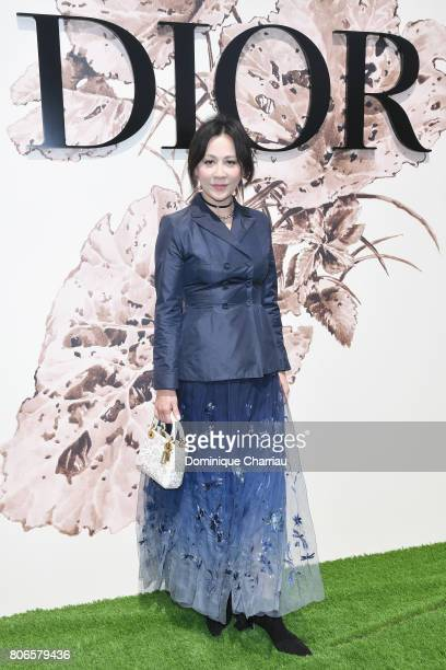Carina Lau attends the Christian Dior Haute Couture Fall/Winter 20172018 show as part of Haute Couture Paris Fashion Week on July 3 2017 in Paris...