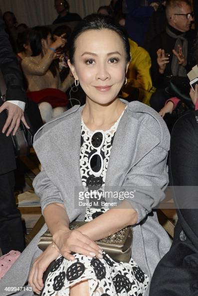 Carina Lau attends the front row at Burberry Womenswear Autumn/Winter 2014 at Kensington Gardens on February 17 2014 in London England