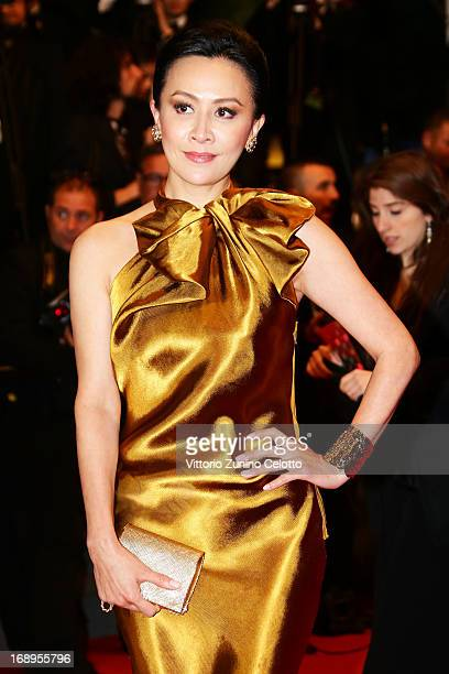 Carina Lau attends the Premiere of 'Tian Zhu Ding' during The 66th Annual Cannes Film Festival at Palais des Festivals on May 17 2013 in Cannes France