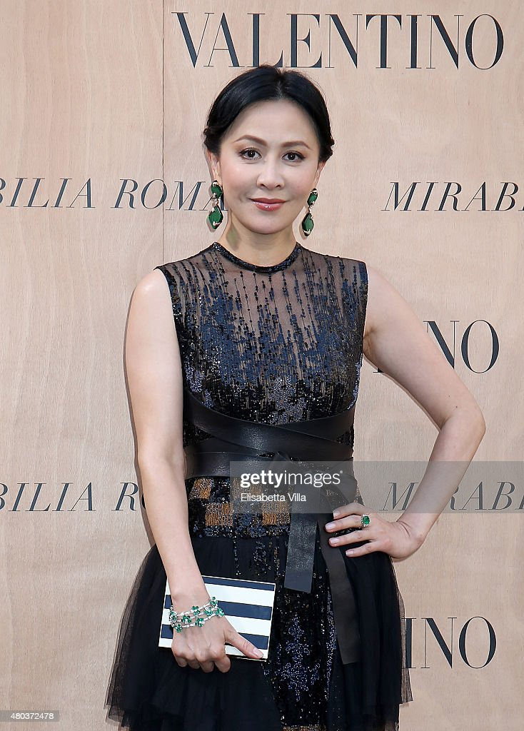 Carina Lau attends the Valentinos 'Mirabilia Romae' haute couture collection fall/winter 2015 2016 at Piazza Mignanelli on July 9, 2015 in Rome, Italy.