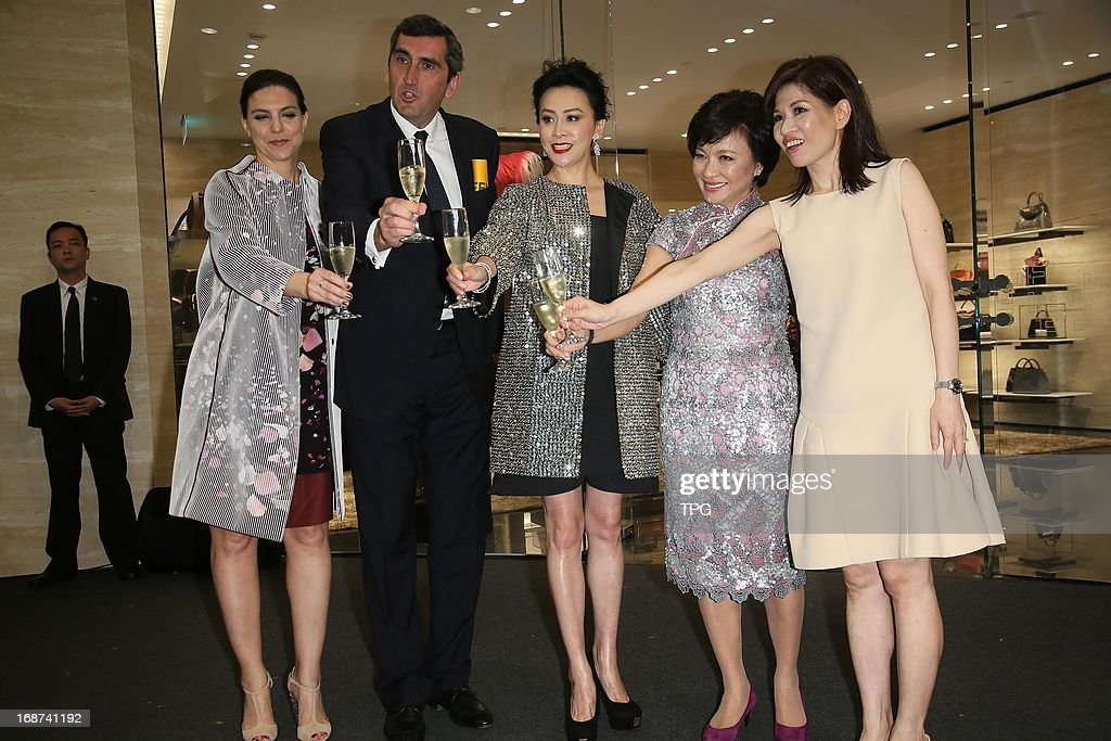 Carina Lau attendss Fendi opening ceremony as cut the ribbon honored guest in gorgeous sequined coat on Tuesday May 14,2013 in Taipei Taiwan,China.