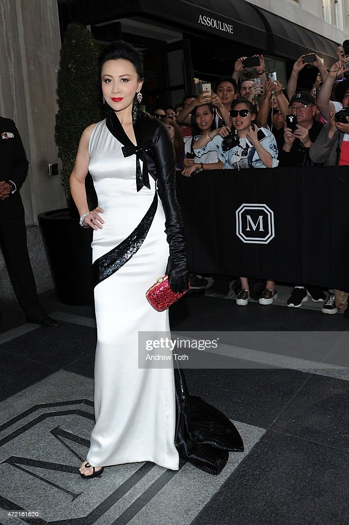 Carina Lau departs The Mark Hotel for the Met Gala at the Metropolitan Museum of Art on May 4, 2015 in New York City.