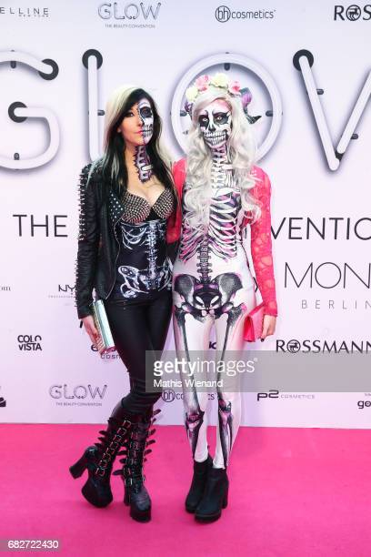 Carina Pusch and Annika Pusch attends the GLOW The Beauty Convention on May 13 2017 in Duesseldorf Germany