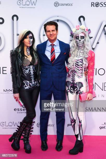 Carina Pusch Vincent de Paul Annika Pusch attends the GLOW The Beauty Convention on May 13 2017 in Duesseldorf Germany