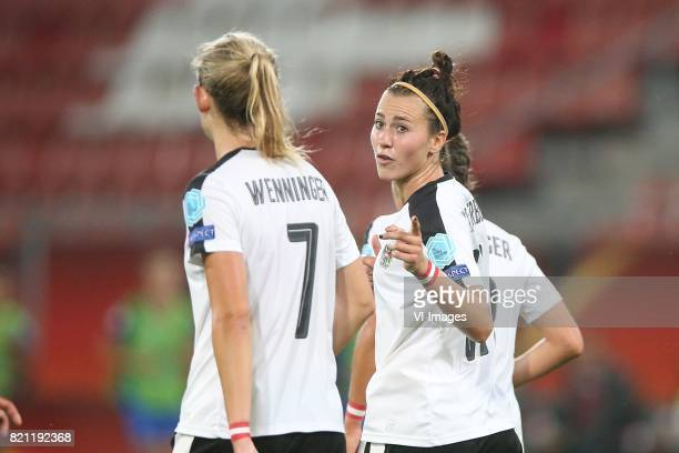 Carina Wenninger of Austria women Viktoria Schnaderbeck of Austria women during the UEFA WEURO 2017 Group C group stage match between France and...