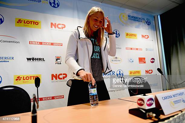 Carina Witthoeft of Germany is interviewed during Day Five of the Nuernberger Versicherungscup 2015 on May 20 2015 in Nuremberg Germany