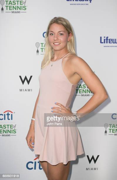Carina Witthoft arrives at the Citi Taste Of Tennis Miami at W Hotel on March 20 2017 in Miami Florida