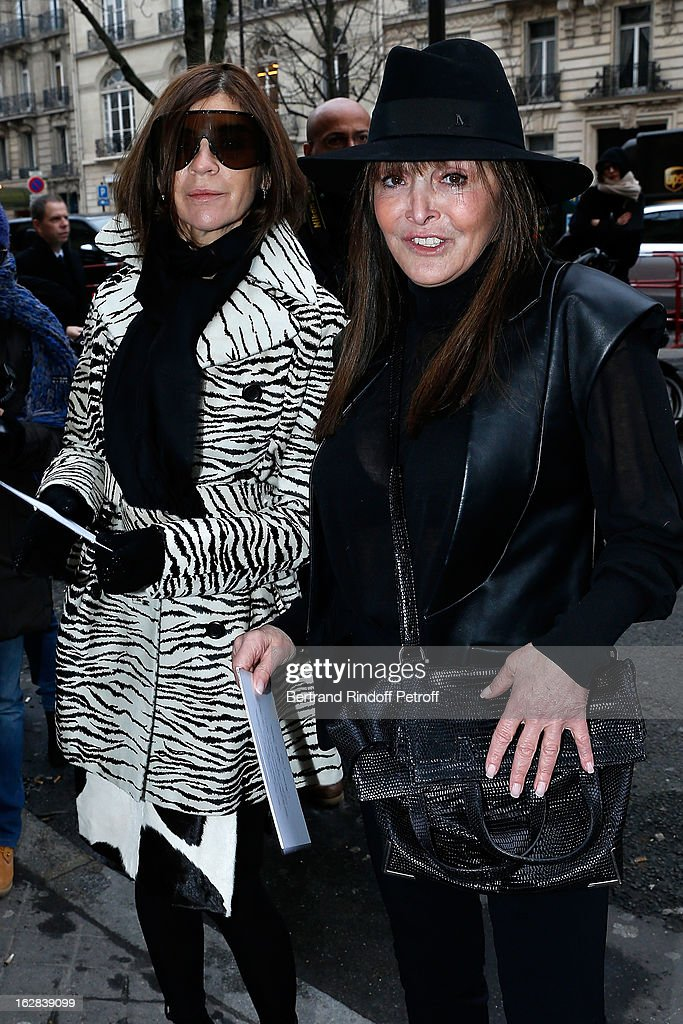 <a gi-track='captionPersonalityLinkClicked' href=/galleries/search?phrase=Carine+Roitfeld&family=editorial&specificpeople=240177 ng-click='$event.stopPropagation()'>Carine Roitfeld</a> and <a gi-track='captionPersonalityLinkClicked' href=/galleries/search?phrase=Babeth+Djian&family=editorial&specificpeople=5510513 ng-click='$event.stopPropagation()'>Babeth Djian</a> attend the Balenciaga Fall/Winter 2013 Ready-to-Wear show as part of Paris Fashion Week on February 28, 2013 in Paris, France.