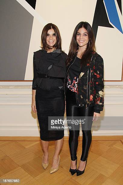 Carine Roitfeld and Julia Restoin Roitfeld attend the Clare Rojas Artist Reception presented by Vladimir Restoin Roitfeld on November 9 2013 in New...