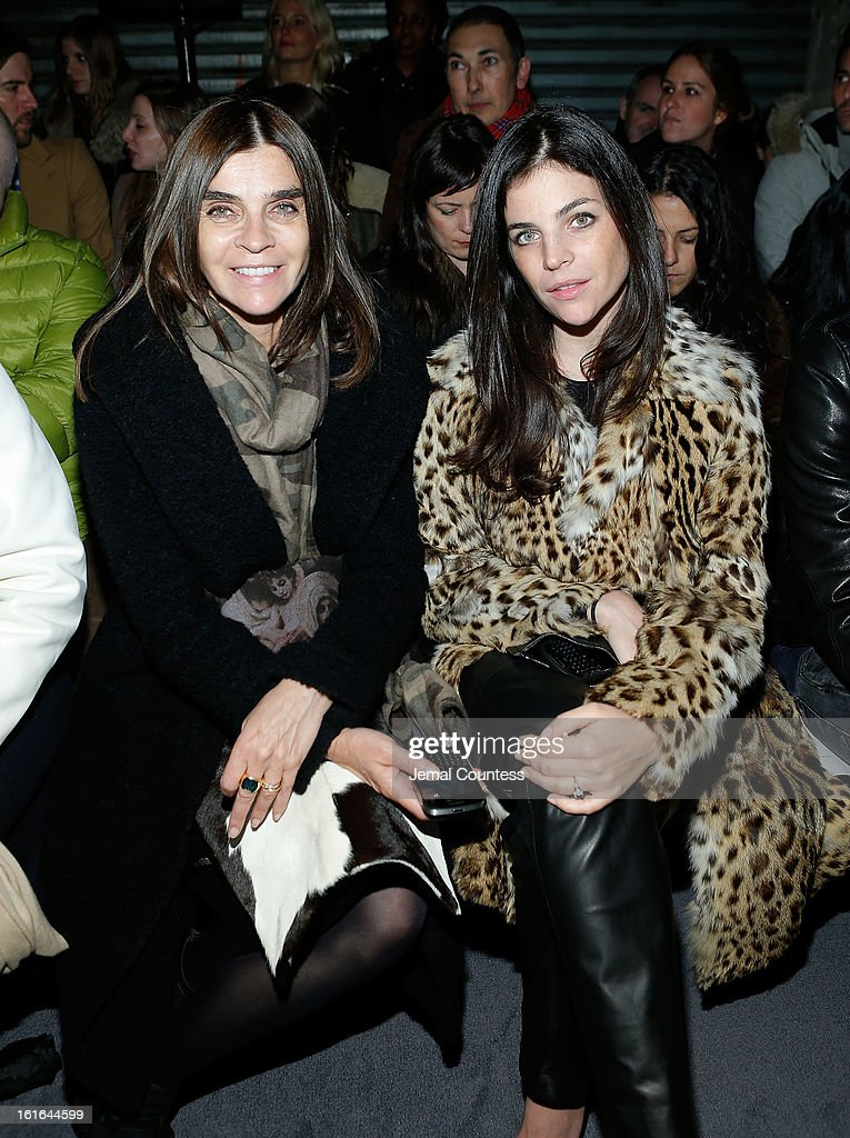 <a gi-track='captionPersonalityLinkClicked' href=/galleries/search?phrase=Carine+Roitfeld&family=editorial&specificpeople=240177 ng-click='$event.stopPropagation()'>Carine Roitfeld</a> and Julia Restoin Roitfeld attend the Proenza Schouler fall 2013 fashion show during Mercedes-Benz Fashion Week on February 13, 2013 in New York City.