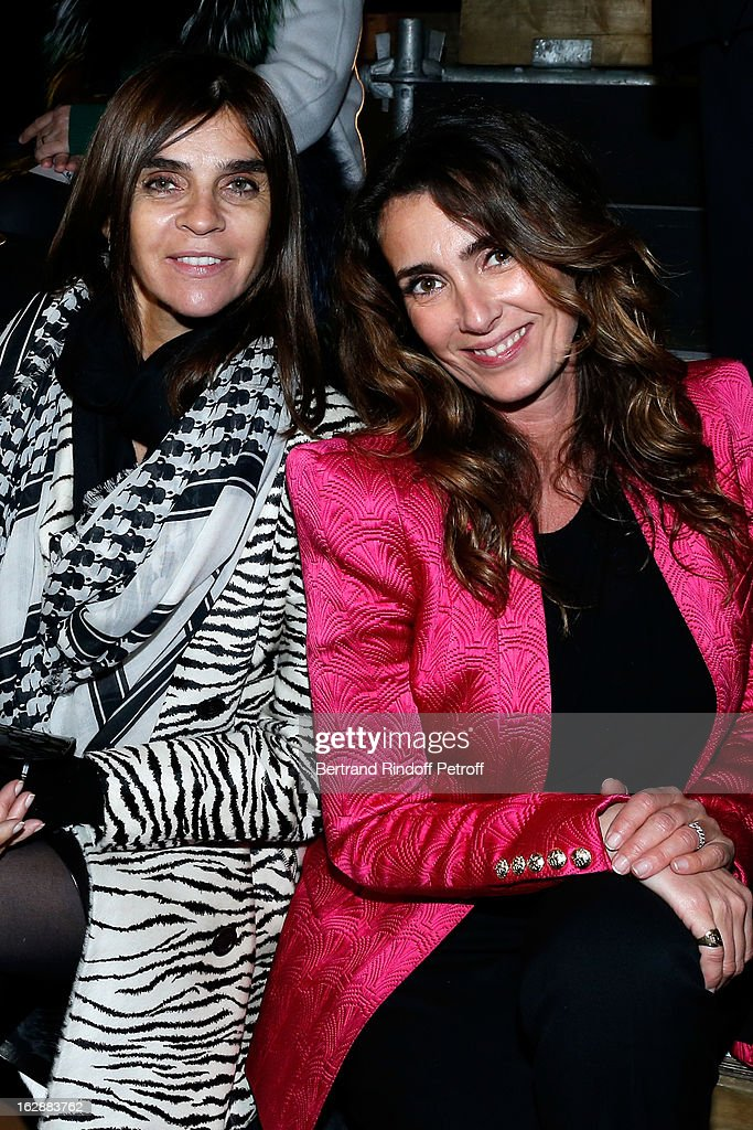 <a gi-track='captionPersonalityLinkClicked' href=/galleries/search?phrase=Carine+Roitfeld&family=editorial&specificpeople=240177 ng-click='$event.stopPropagation()'>Carine Roitfeld</a> and Mademoiselle Agnes attend the Lanvin Fall/Winter 2013 Ready-to-Wear show as part of Paris Fashion Week on February 28, 2013 in Paris, France.